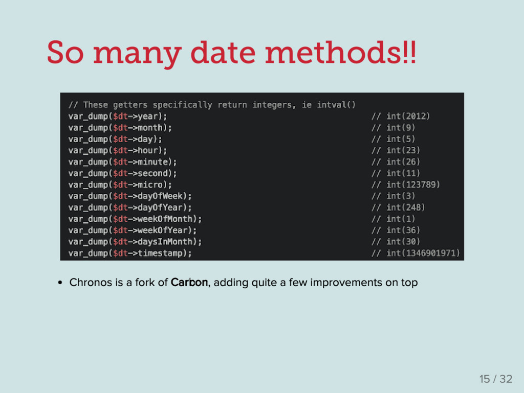 So many date methods!! Chronos is a fork of Car...