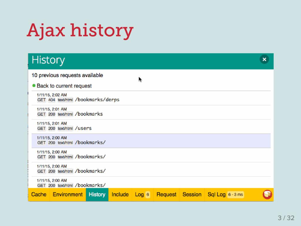 Ajax history 3 / 32