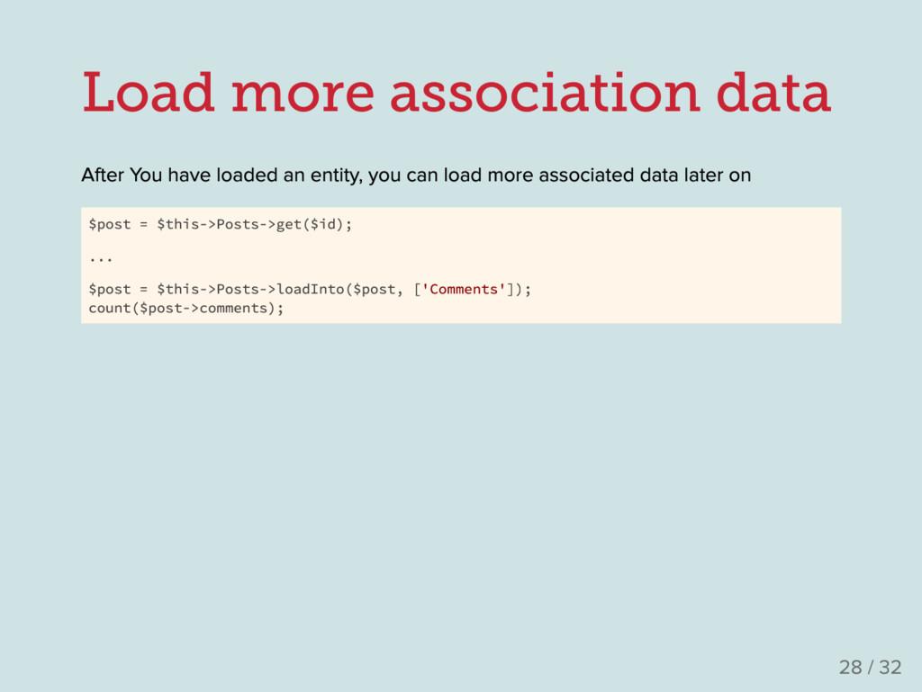 Load more association data After Y ou have load...