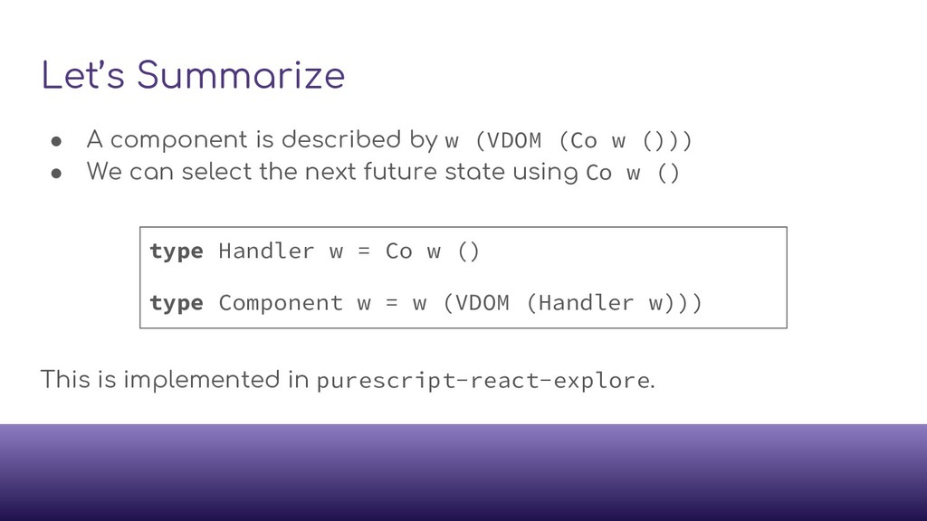 Let's Summarize ● A component is described by w...