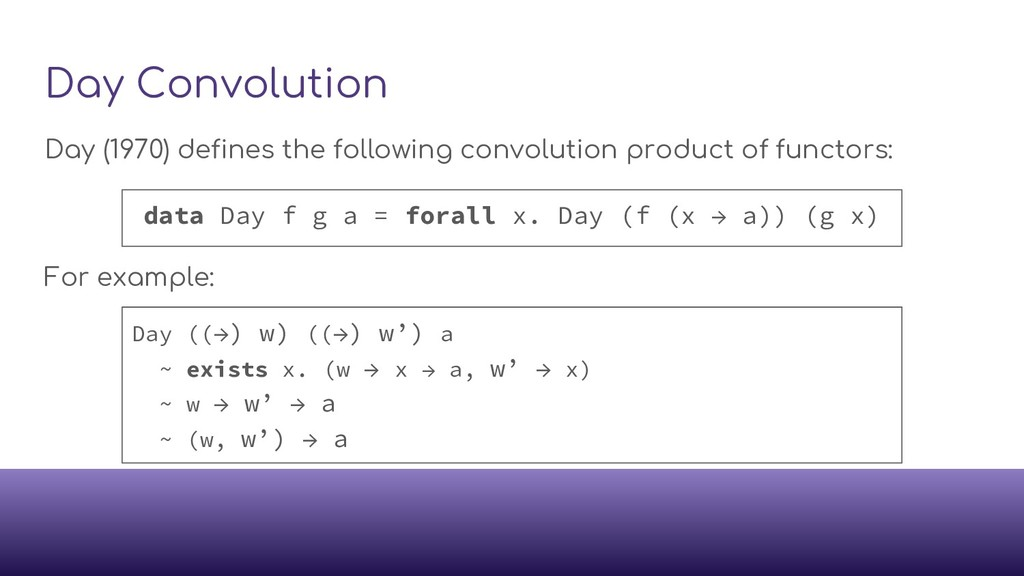 Day Convolution Day (1970) defines the followin...
