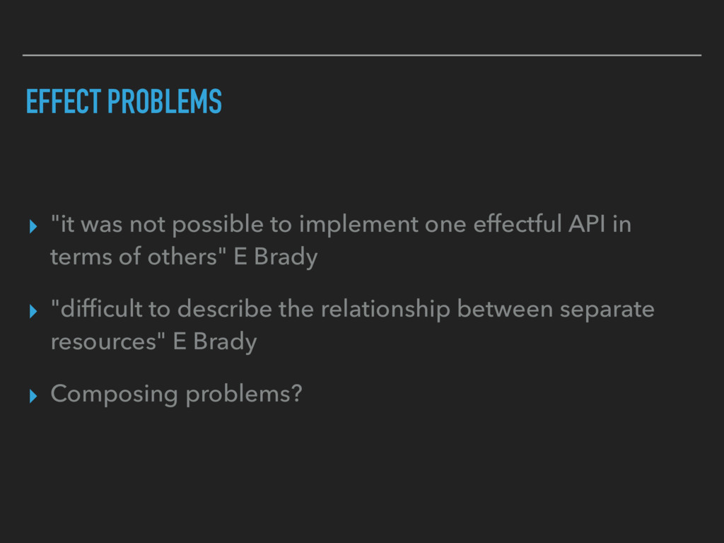 "EFFECT PROBLEMS ▸ ""it was not possible to imple..."