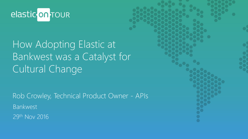 Rob Crowley, Technical Product Owner - APIs How...
