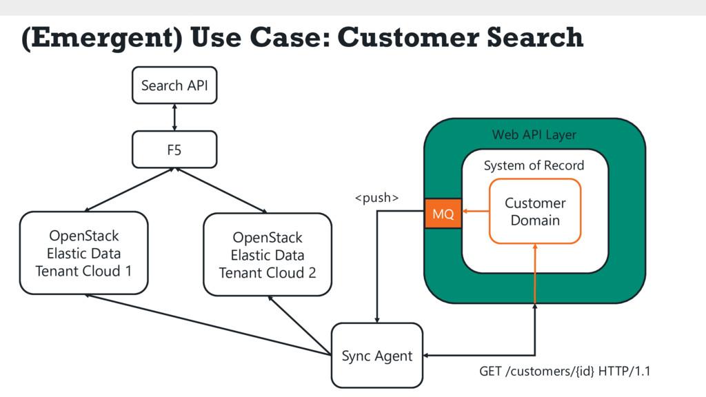 (Emergent) Use Case: Customer Search Search API...