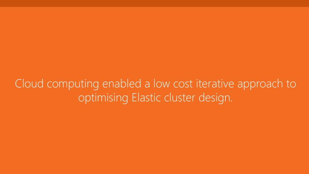 Cloud computing enabled a low cost iterative ap...