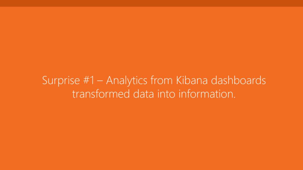 Surprise #1 – Analytics from Kibana dashboards ...