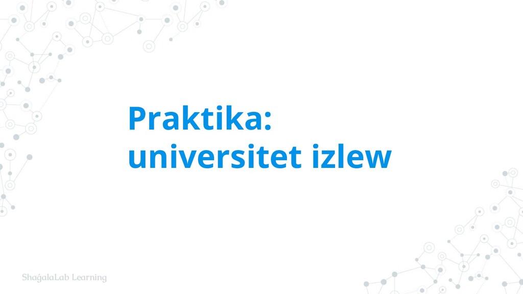 ShaǵalaLab Learning Praktika: universitet izlew