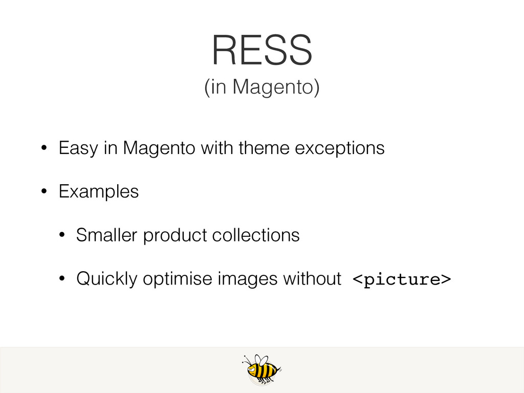 • Easy in Magento with theme exceptions • Examp...