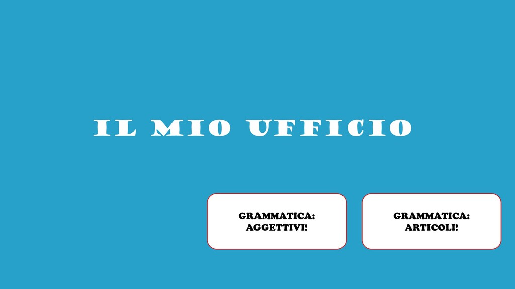 IL MIO UFFICIO GRAMMATICA: ARTICOLI! GRAMMATICA...