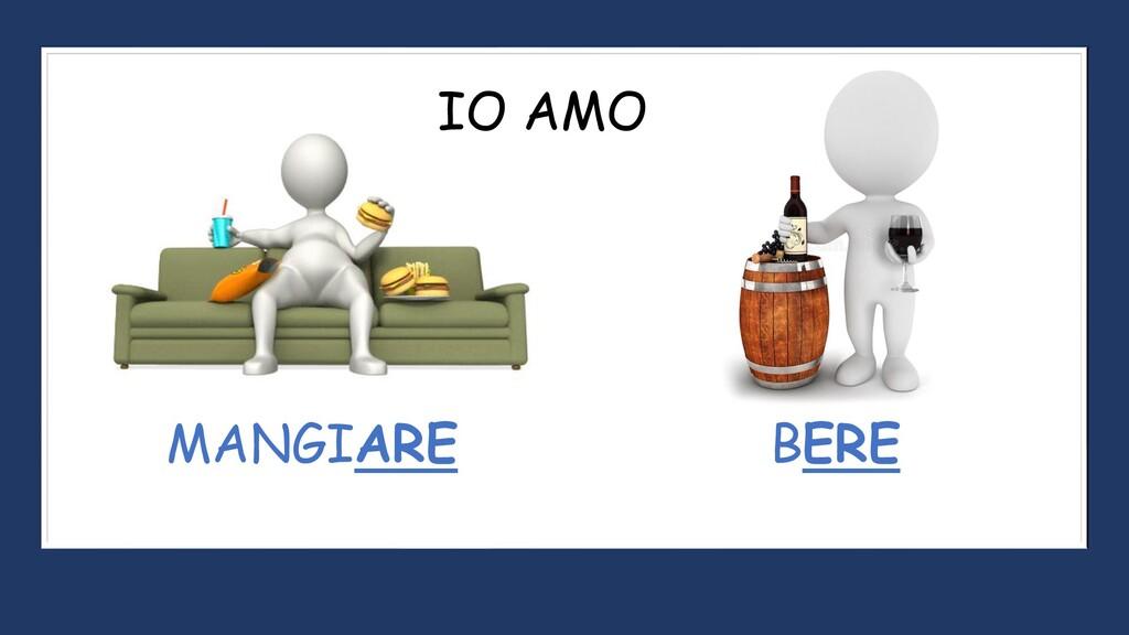 IO AMO MANGIARE BERE