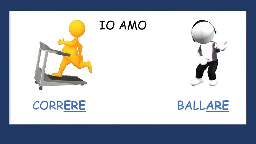 CORRERE BALLARE IO AMO