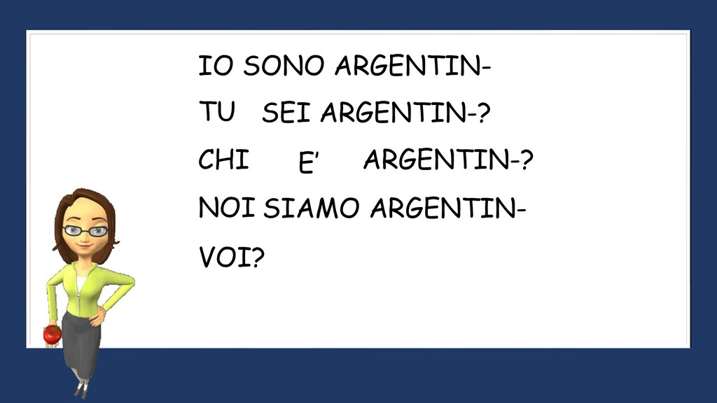 IO SONO ARGENTIN- SEI ARGENTIN-? VOI? SIAMO ARG...