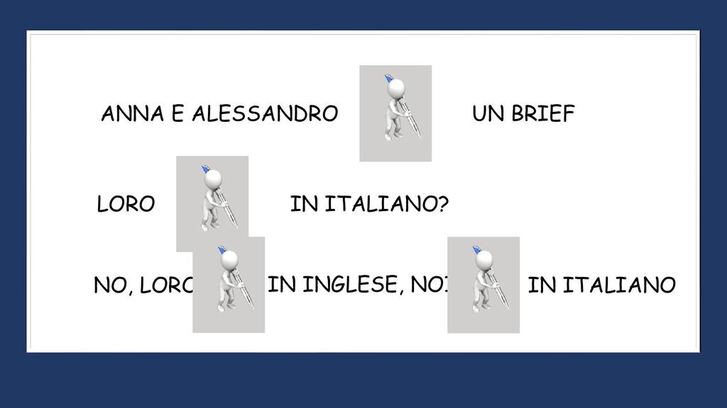 ANNA E ALESSANDRO UN BRIEF LORO IN ITALIANO? NO...