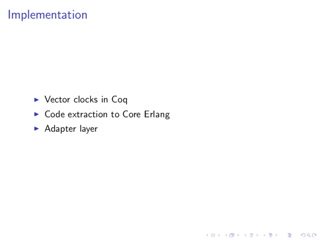 Implementation Vector clocks in Coq Code extrac...