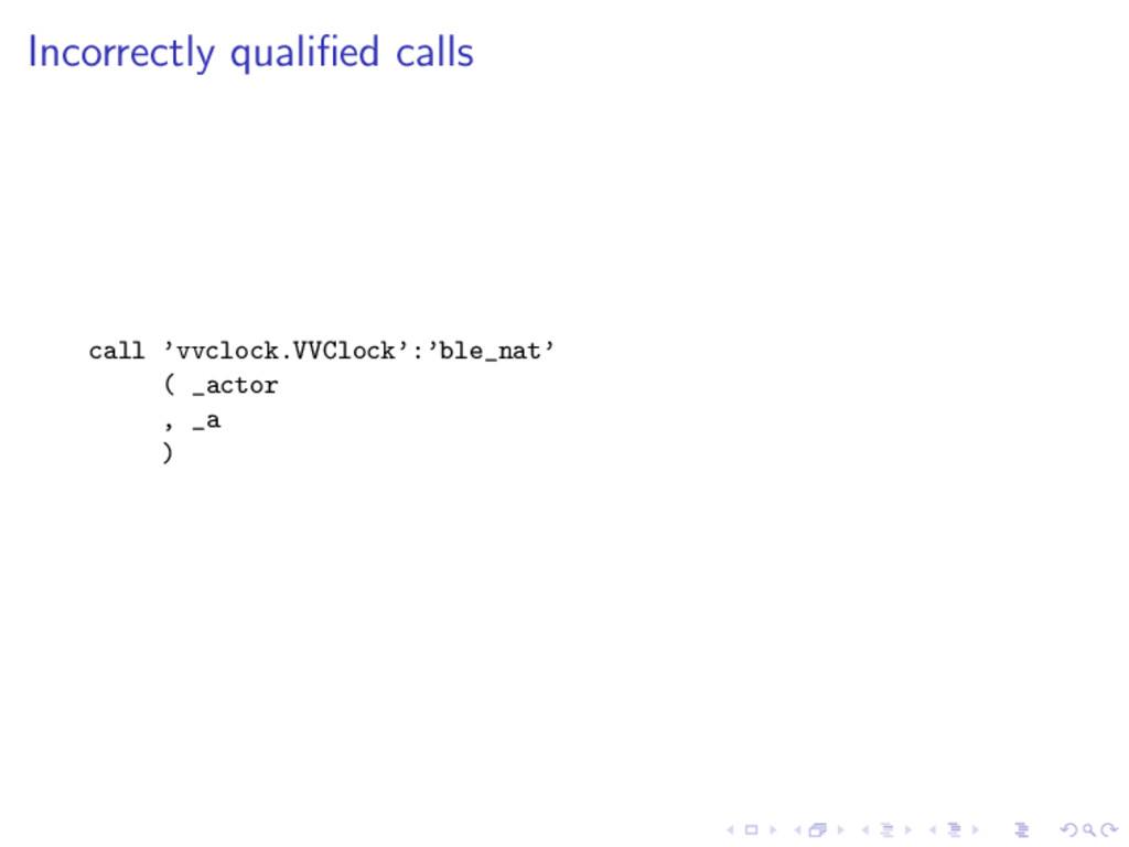 Incorrectly qualified calls call 'vvclock.VVCloc...