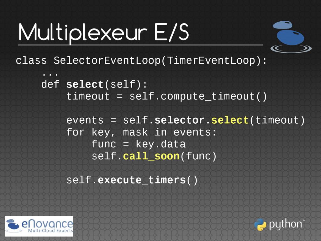Multiplexeur E/S class SelectorEventLoop(TimerE...