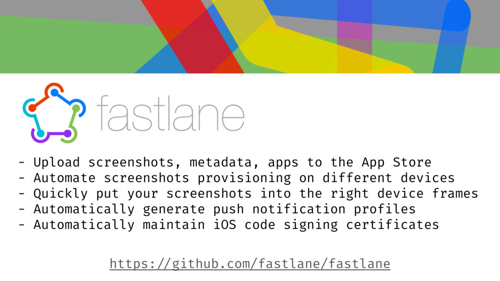 - Upload screenshots, metadata, apps to the App...