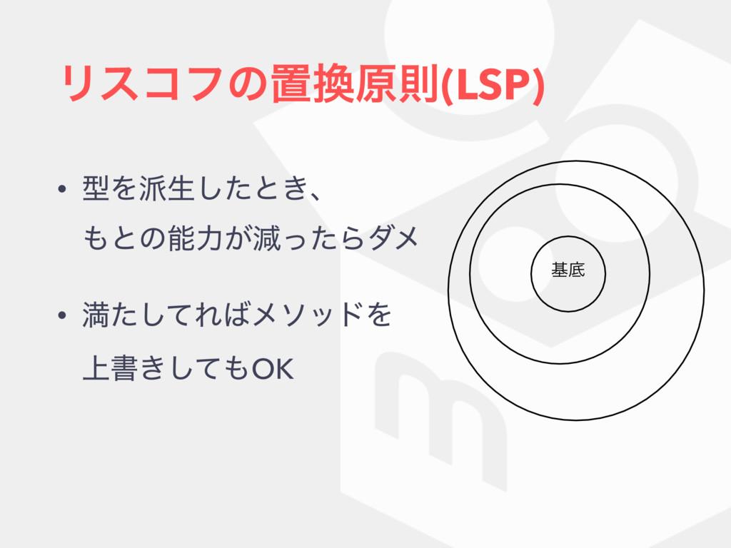 Ϧείϑͷஔݪଇ(LSP) • ܕΛੜͨ͠ͱ͖ɺ ͱͷྗ͕ݮͬͨΒμϝ • ຬͨͯ͠...