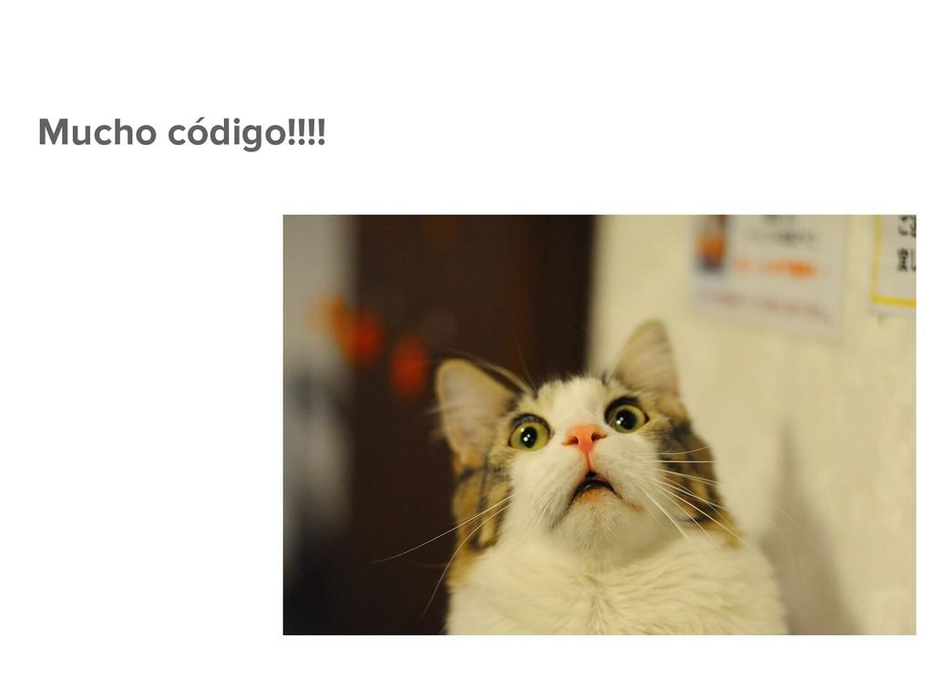 Mucho código!!!!