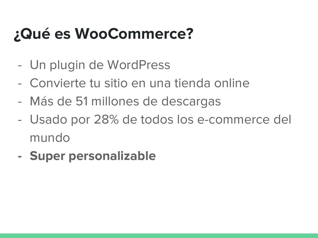 ¿Qué es WooCommerce? - Un plugin de WordPress -...