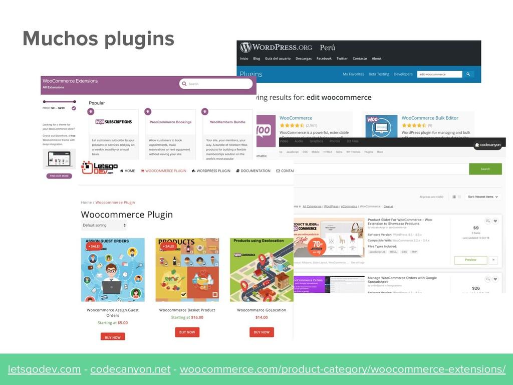 Muchos plugins letsgodev.com - codecanyon.net -...