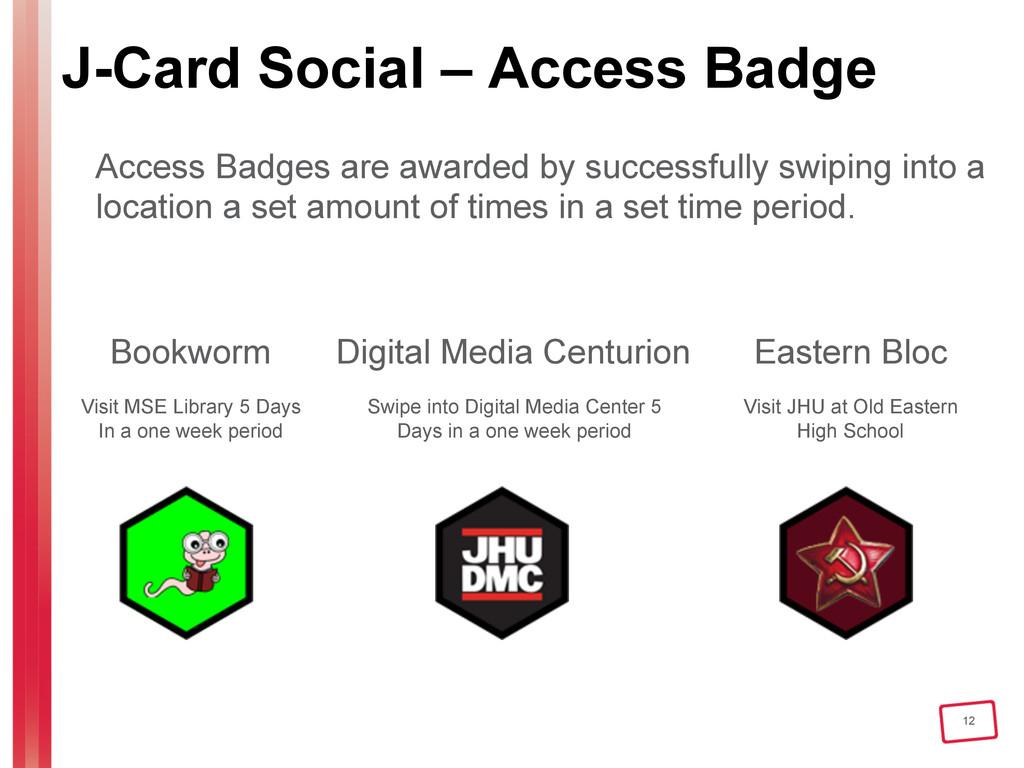 12 J-Card Social – Access Badge Access Badges a...