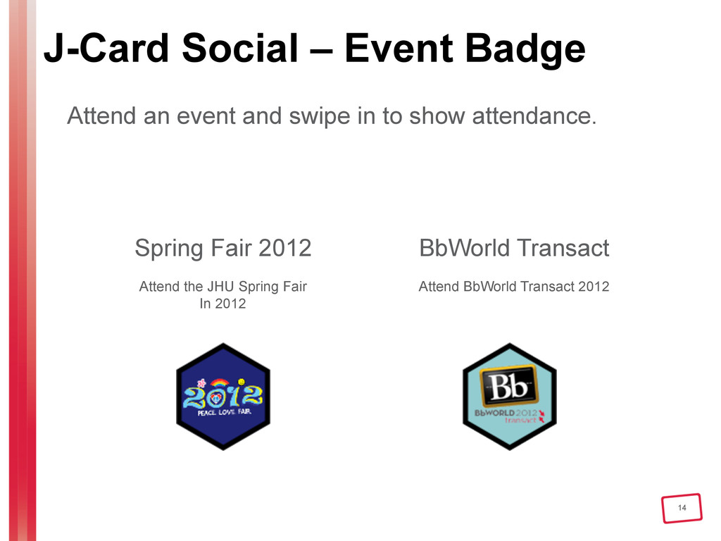 14 J-Card Social – Event Badge Attend an event ...