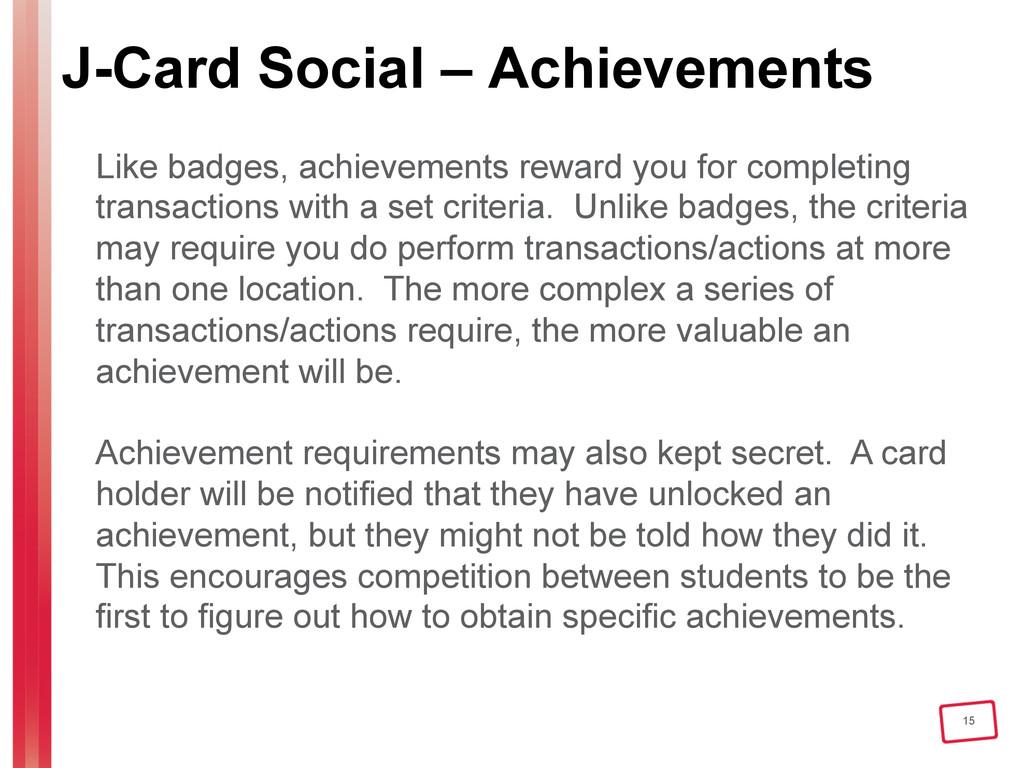 15 J-Card Social – Achievements Like badges, ac...