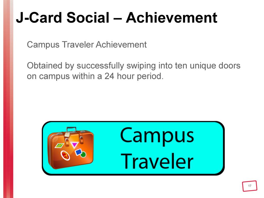 17 J-Card Social – Achievement Campus Traveler ...