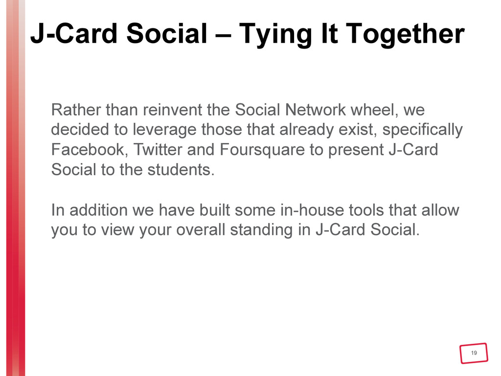 19 J-Card Social – Tying It Together Rather tha...