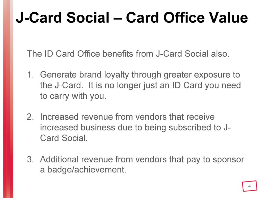 30 J-Card Social – Card Office Value The ID Car...