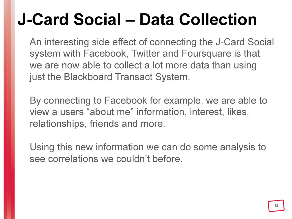 32 J-Card Social – Data Collection An interesti...