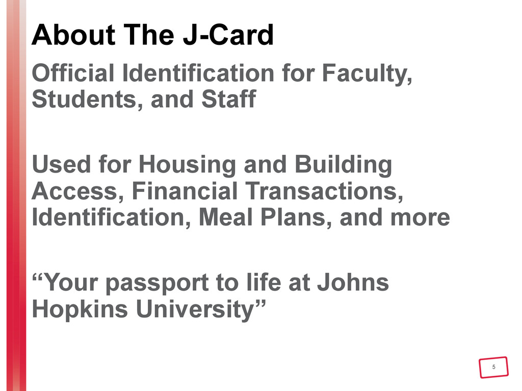 5 About The J-Card Official Identification for ...