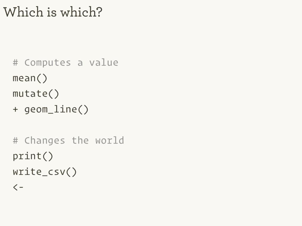 # Computes a value mean() mutate() + geom_line(...