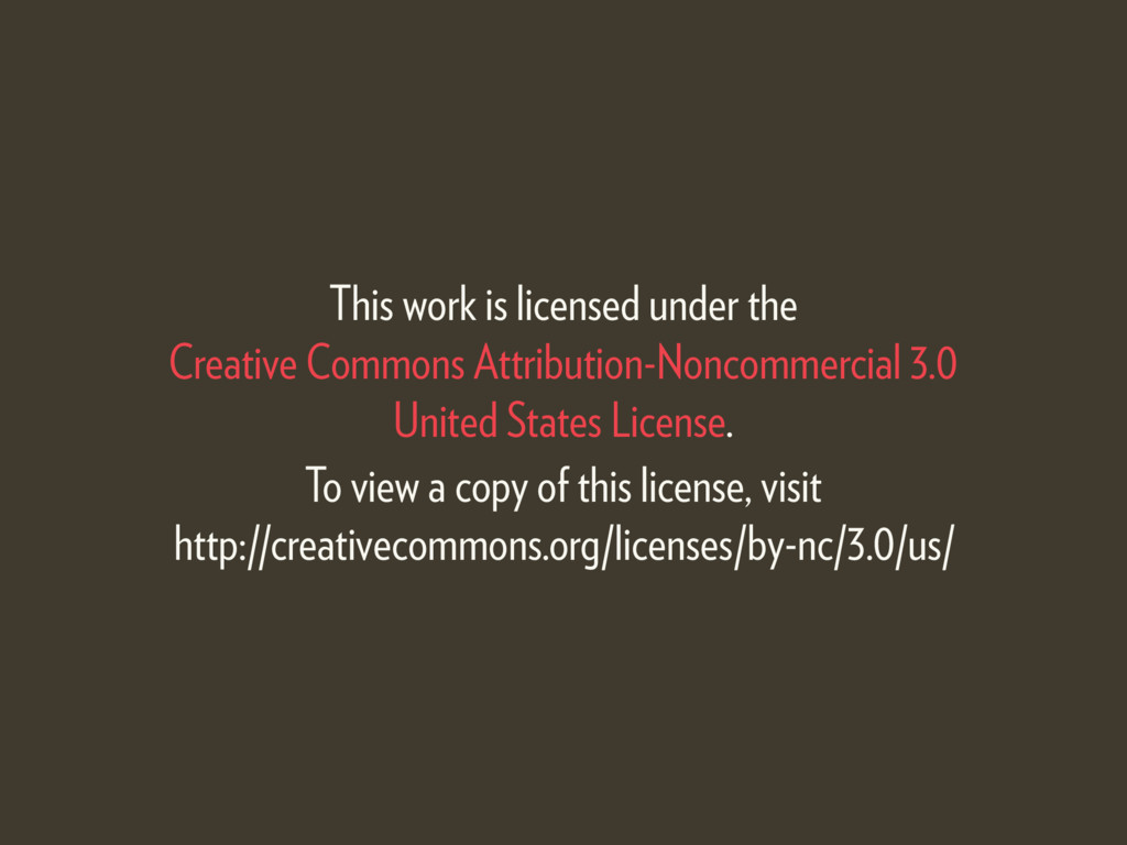 This work is licensed under the  Creative Comm...