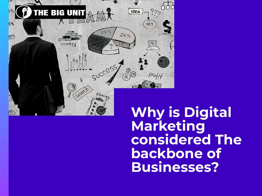 Why is Digital Marketing considered The backbon...