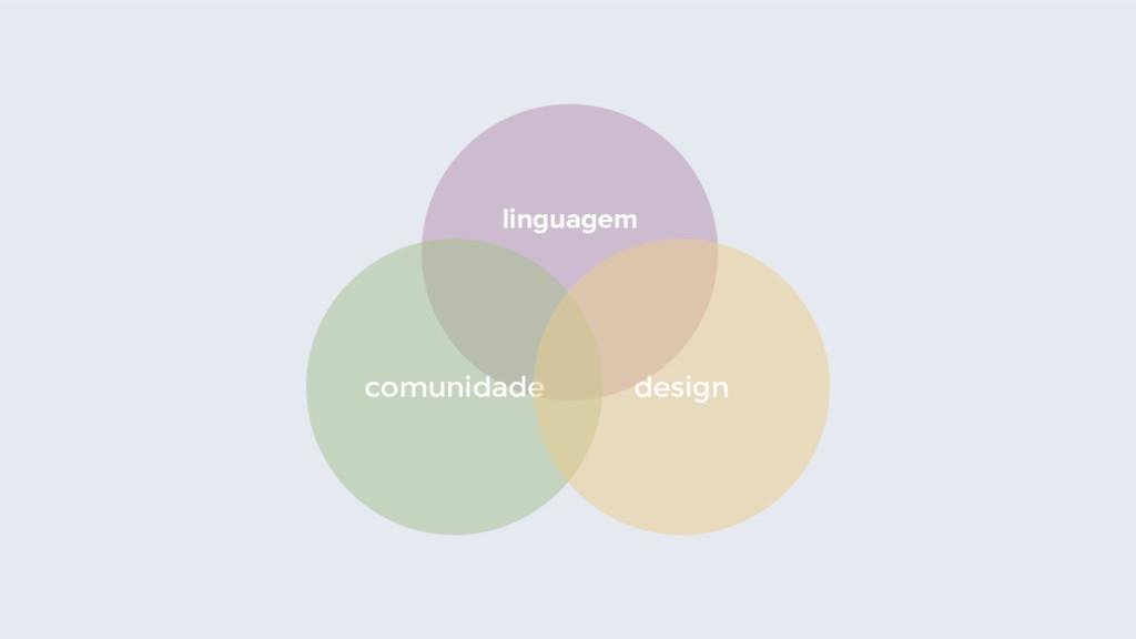 linguagem comunidade design