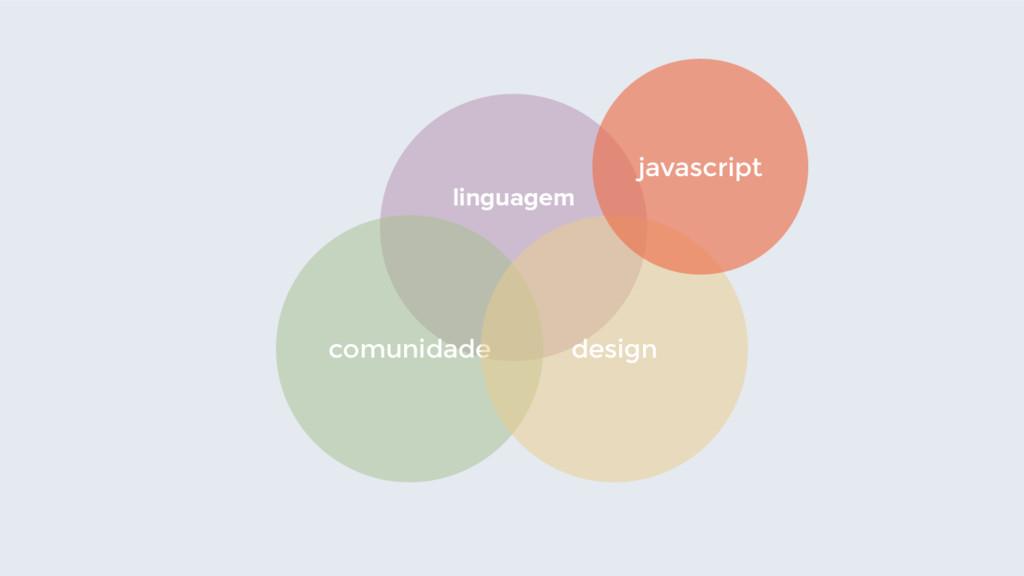 linguagem comunidade design javascript