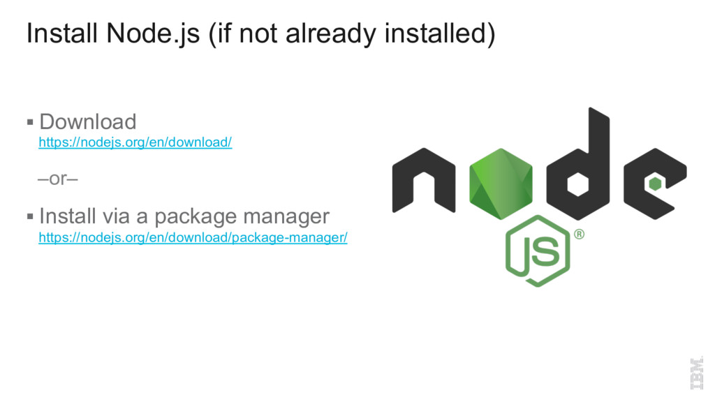 Install Node.js (if not already installed) § Do...