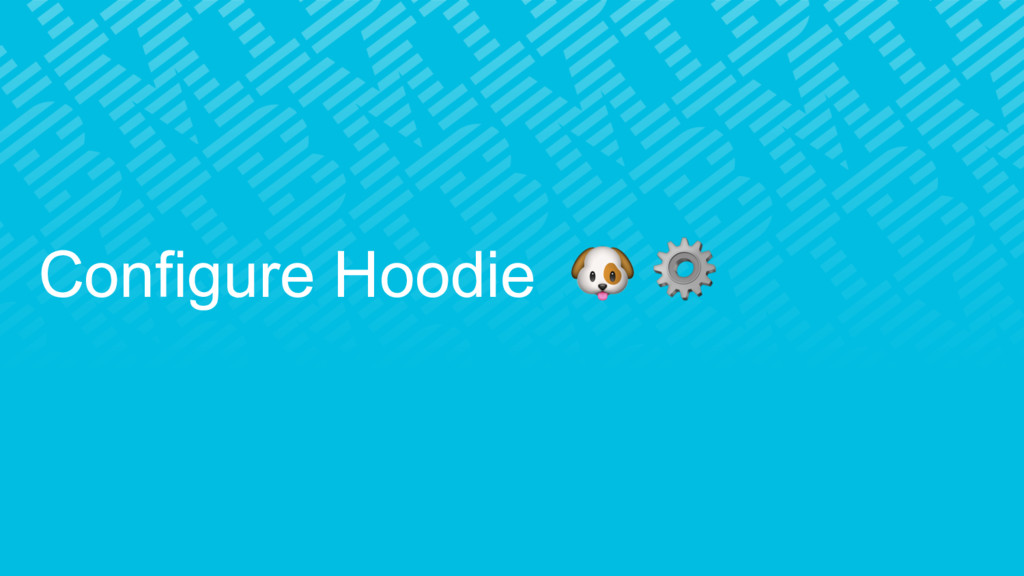 Configure Hoodie  ⚙
