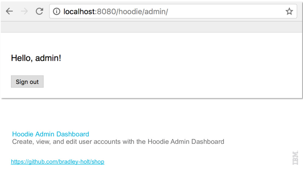 Hoodie Admin Dashboard Create, view, and edit u...