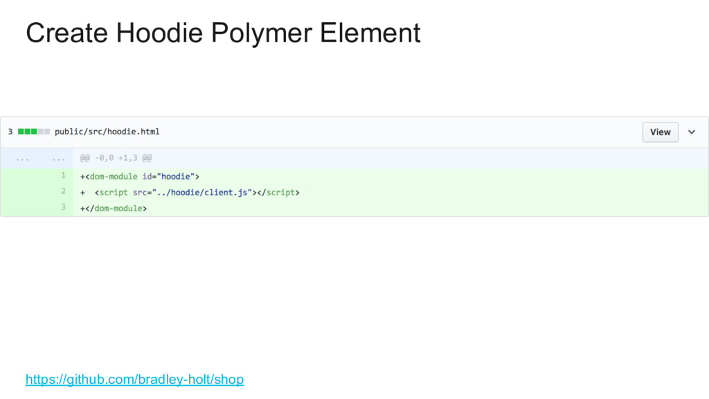 Create Hoodie Polymer Element https://github.co...
