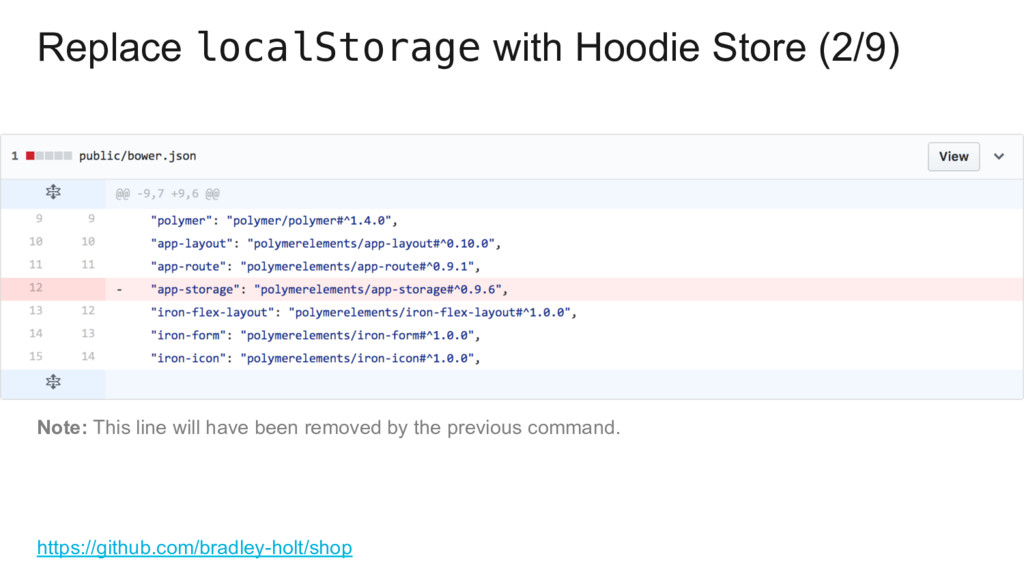 Replace localStorage with Hoodie Store (2/9) ht...