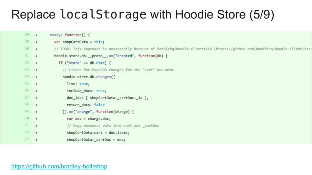 Replace localStorage with Hoodie Store (5/9) ht...