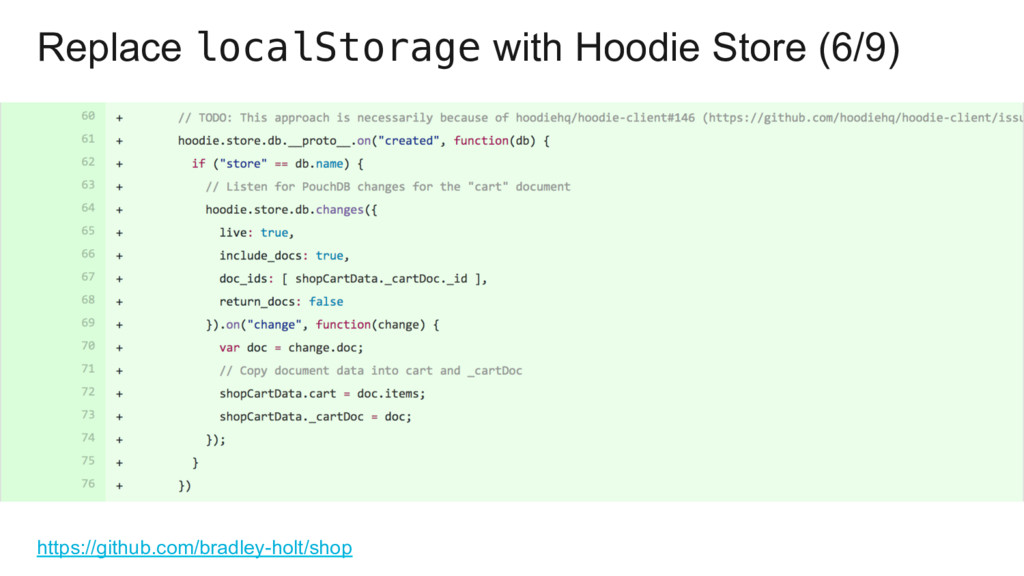 Replace localStorage with Hoodie Store (6/9) ht...