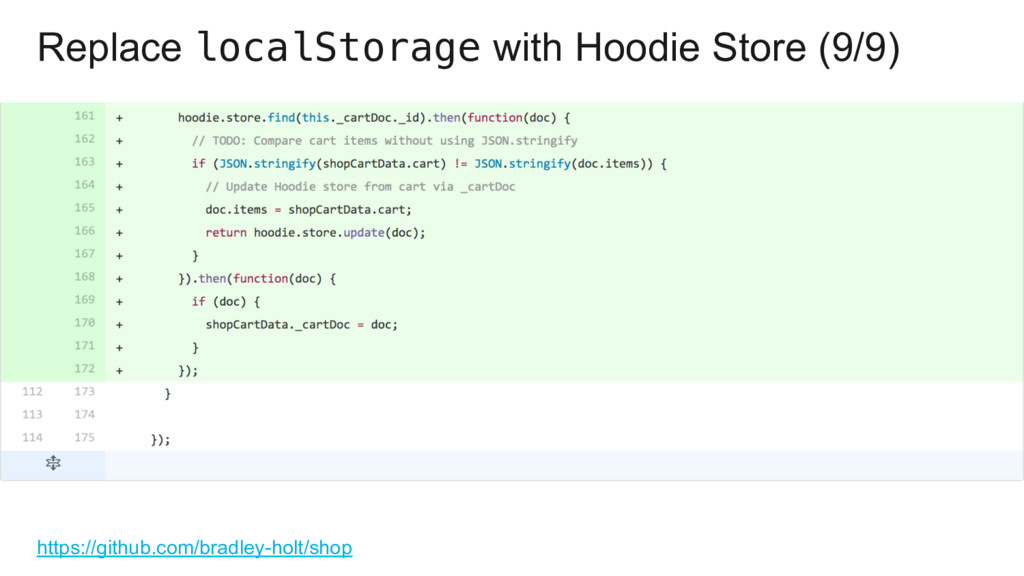 Replace localStorage with Hoodie Store (9/9) ht...