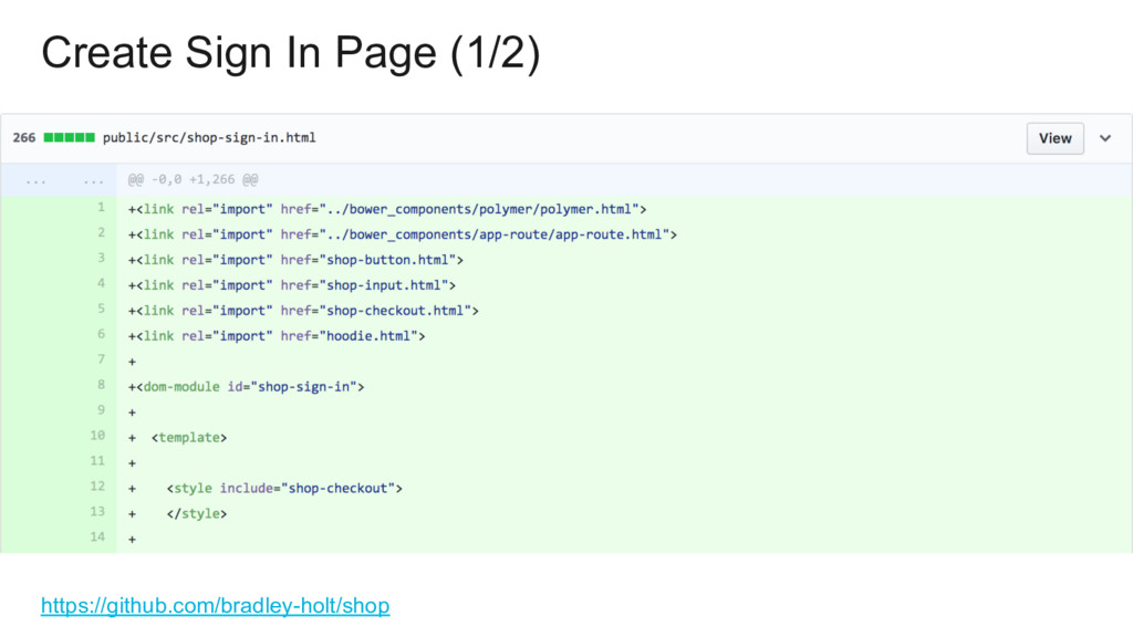 Create Sign In Page (1/2) https://github.com/br...