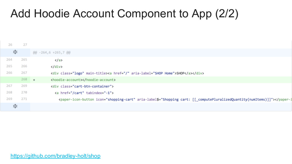Add Hoodie Account Component to App (2/2) https...