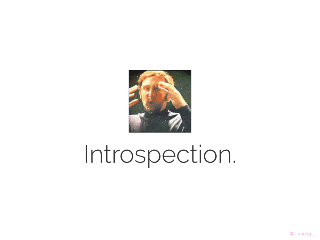 @__xuorig__ Introspection.