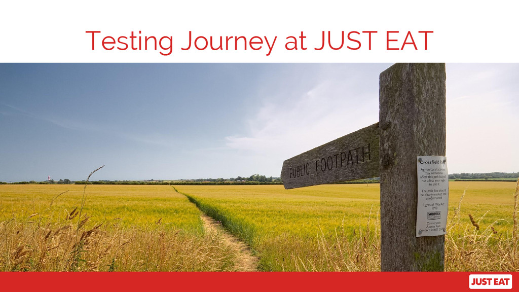 Testing Journey at JUST EAT